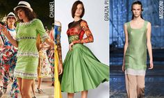 Цвет года 2017 от Pantone Greenery от Chanel, Grazia Pi и Missoni