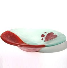 Love Heart fused Glass Bowl