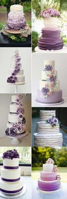 2018 BRIDES FAVORITE WEEDING COLOR: STYLISH SHADE OF PURPLE - Wedding Invites Paper shade of purple wedding cakes/ modern wedding cakes/ elegant wedding cake toppers/ fall wedding cakes #modernweddingcakes