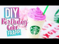 DIY STARBUCKS BIRTHDAY CAKE FRAPPUCCINO - YouTube