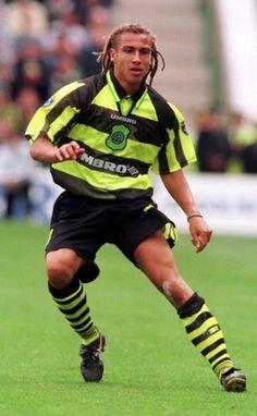 Henrik Larsson (Celtic FC, 1997–2004, 221 apps, 174 goals). Larsson making his Celtic debut.