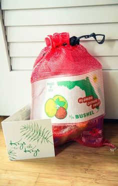 Key West wedding welcome gift in Florida orange bag