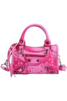 Woven Surface PU Leather Shoulder Bag - OASAP.com