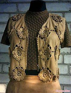 "Irish crochet &: Коллекция ""Замш и ажур"" от Santana"