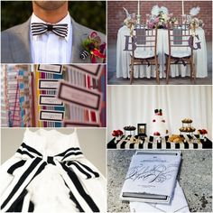 Inspiration. Black and white stripes wedding