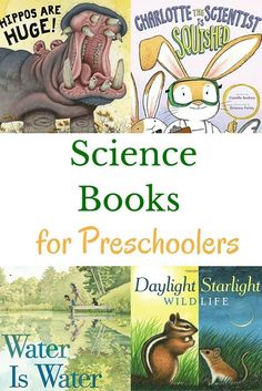 Your youngest scientists will enjoy these preschool science books. Includes book recommendations for earth science, physical science, life science, thinking like a scientist, and science activity books.