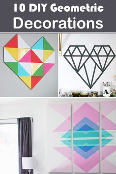 10 DIY Geometric Decorations For Trendy Home Décor