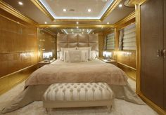 fendi furniture | THE YACHT is furnished with sofas, armchairs and coffee tables covered ...
