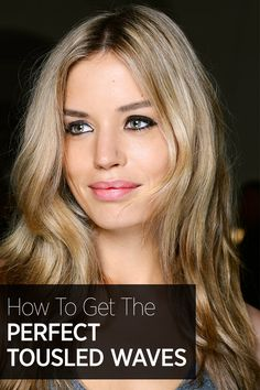 Click through for the step by step guide to getting the perfect wavy hair: