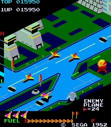 Zaxxon spawned an arcade sequel: Super Zaxxon. The color scheme is different, the player's ship flies faster (making the game more difficult), and the robot at. Playstation, Zelda Video Games, Retro Arcade, Education Architecture, Level Up, Clash Of Clans, Pinball, Legend Of Zelda, Celebrity Weddings