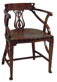 Art Nouveau Chair by Jan Kotera, 1902. Museum of Decorative Arts, Prague.