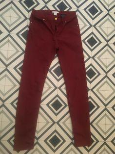 Ladies/Womens H&M Wine Jeans / Trousers Size 8 Knit Jacket, Blazer Jacket, Denim Trench Coat, Floral Short Sleeve Tops, Oversized Jeans, H&m Jeans, Maxi Cardigan, Long Cardigan, Winter Jackets Women