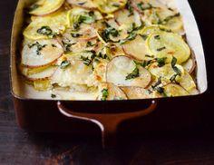Recipe: Potato, Squash & Goat Cheese Gratin — Side Dish Recipes from The Kitchn