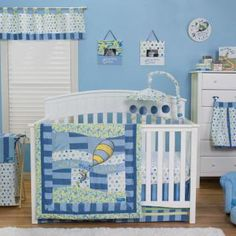 Oh the places your little one will go! The inspirational Dr. Seuss book, Oh, the Places You'll Go! is beautifully brought to life with a beautiful mix of prints including a charming dot, bold stripe and cute swirl, providing your baby with a stylish and nostalgic nursery everyone will enjoy.