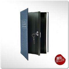 SMALL BOOK SAFE METAL SECURE LOCK KEY MONEY JEWELRY CASH HIDE SECRET GUN BOX - http://home-garden.goshoppins.com/home-improvement/small-book-safe-metal-secure-lock-key-money-jewelry-cash-hide-secret-gun-box/