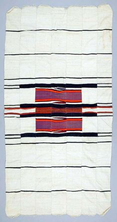 Africa | Wrapper from the Hausa people of Zaira, Kaduna State, Nigeria | ca. 1960 - 65 | Cotton; Tapestry woven, basket woven.