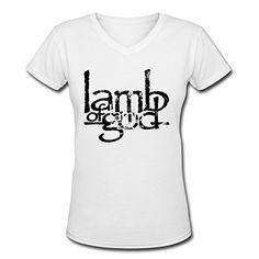 Lamb Of God Band Women Cotton T-shirt Custom Women V-Neck T-Shirt Women Summer Short Sleeve T-Shirt