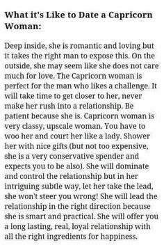 Dating a Capricorn woman: Excellent choice of words to describe us Capricorn women All About Capricorn, Capricorn Facts, Capricorn Quotes, Zodiac Signs Capricorn, Capricorn And Aquarius, My Zodiac Sign, Zodiac Facts, Capricorn Relationships, Capricorn Female
