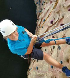 Me absailing down lukes wall at bendrigg trust