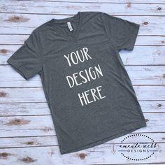 MOCKUP - Bella Canvas Unisex T-Shirt, Gray Triblend - jpeg by SVGsByAWebbDesigns on Etsy https://www.etsy.com/listing/592704671/mockup-bella-canvas-unisex-t-shirt-gray