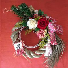 Chinese New Year, Grapevine Wreath, Diy And Crafts, Christmas Wreaths, Floral Design, Funny Food, Jessie, Rose, Bouquets