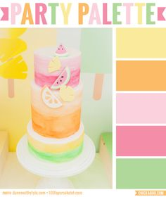 Party Palette: Fruity pastel color inspiration from a popsicle theme birthday party #colorpalette
