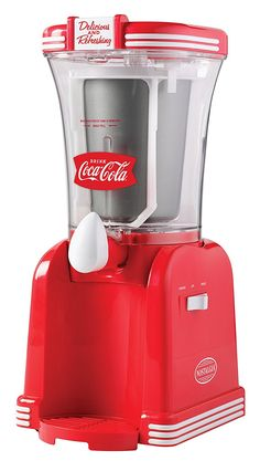 Nostalgia RSM650COKE Coca-Cola 32-Ounce Slush Drink Maker ** This is an Amazon Affiliate link. Click image to review more details.