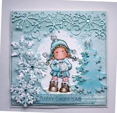 Winter Christmas Tilda by Rica - Cards and Paper Crafts at Splitcoaststampers