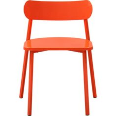 fleet hot orange chair in dining chairs, barstools | CB2