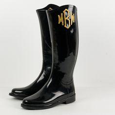 monogrammed goods - monogrammed rain boots
