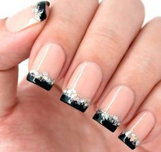 110 Beautiful Nail Art Designs Just For You – Hello Pretty Nails! French Manicure Nails, French Manicure Designs, French Tip Nails, Nail Art Designs, French Tips, French Manicure With A Twist, Stiletto Nails, Coffin Nails, Cute Nails