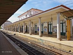 Estação de Beja, 2013 | Flickr - Photo Sharing! Alentejo, Portugal Portugal, Algarve, Portuguese Culture, Blue Tiles, Train Station, Travel Around, Coastal, Pergola, Outdoor Structures