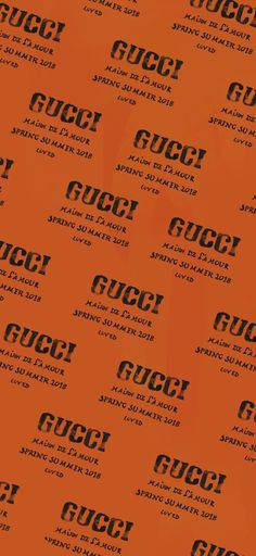 Gucci Wallpaper Iphone, Hype Wallpaper, Orange Wallpaper, Tumblr Wallpaper, Screen Wallpaper, Aesthetic Iphone Wallpaper, Cool Wallpaper, Aesthetic Wallpapers, High By The Beach