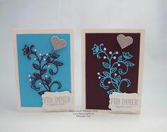 #Hochzeitskarten in den Trendfarben Lila und Türkis #stampinup #abgestempelt