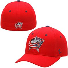 Columbus Blue Jackets Zephyr Crosscheck Fitted Hat – Red - $25.99