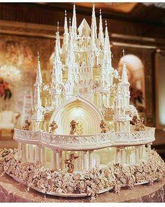 This Wedding CAKE by @lenovellecake lecake  #BeautifulEpicCastleCake Caption…
