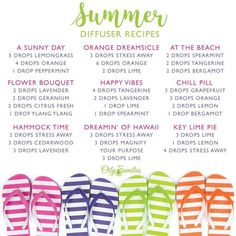 Essential Oil Diffuser Blends for Summer