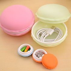 New Hot Fashion Sweet Small Storage Box Candy Color For Jewelry Earring Outing Storage Boxes #Affiliate