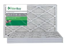 16x25x1 Air Filters Pleated Merv 8 AFB Silver Air AC Furnace HVAC Filter Energy Efficient Box of 4 FilterBuy * Visit the image link more details. (Note:Amazon affiliate link)