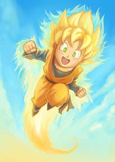 SSJ Goten Flying by Risachantag.deviantart.com on @deviantART