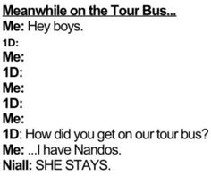SHE STAYS! I wish that would happen to me!(: