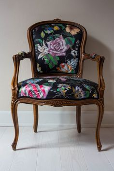 """Malmaison Réglisse"" fabric -     Image credit - Indretningsarkitekt Niels Rejnhold Designers Guild, Christian Lacroix, Wingback Chair, Interior Styling, Accent Chairs, Dining, Beautiful Things, Fabric, Stuff To Buy"
