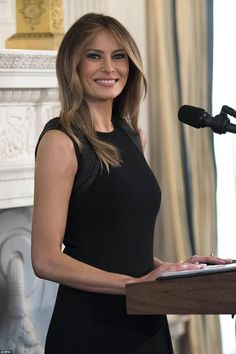 Melania Trump hosted a luncheon in the White House s State Dining Room and  invited female members of the administration and Congress 44eda8ab226