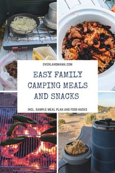 Easy camping meals and snacks for the family- incl. sample meal plan and food ha… - Camping Camping Dishes, Camping Meals, Camping Hacks, Family Camping, Camping Stuff, Backpacking Meals, Camping Recipes, Breakfast Casserole, Breakfast Recipes