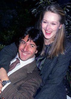 Dustin Hoffman and Meryl Streep on the set of Kramer vs. Kramer.