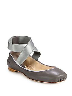 I might be able to sneak these under my dress sometime. I can't escape my inner and former ballerina. Chloe Leather+Ballet+Flats