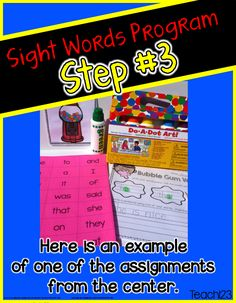 Editable Sight Word Program:  Have you had any V-8 moments in your teaching career?  One of my biggies happened when I was teaching kindergarten.  I later used this when I moved to 1st grade. I had students that were able to read some words, but needed to learn sight words to fill in the gaps.  Through trial and error, the Bubble Gum program evolved.   I thought I'd pass along some of the things I learned along the way. $
