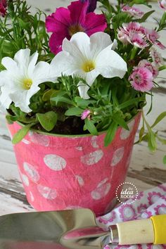Flower Pot Craft with Mod Podge Amie and I use to make these using pretty napkins.