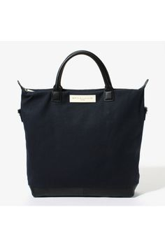 WANT Cotton/Leather Shopper Tote