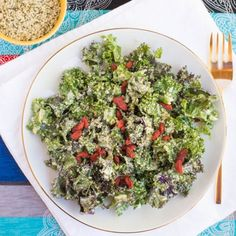 Kale Caesar Salad {dairy free+gf}